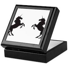 Twin Unicorns Keepsake Box