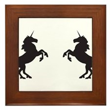 Twin Unicorns Framed Tile