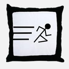 Running Man Throw Pillow
