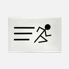 Running Man Rectangle Magnet