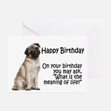 Funny Pug Birthday Card