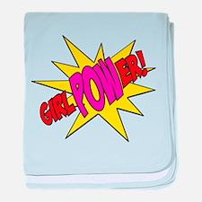 Girl Power baby blanket