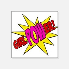 "Girl Power Square Sticker 3"" x 3"""