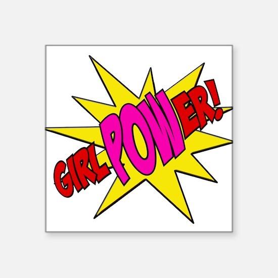 "Girl Power Square Sticker 3"" x 3"""