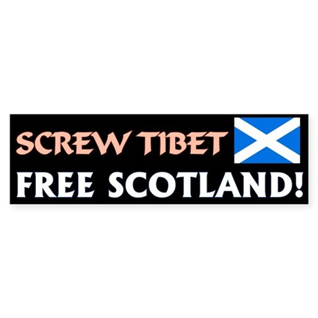 Free Scotland bumper sticker