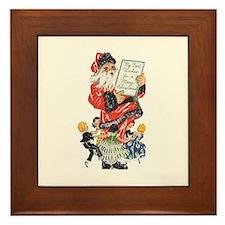 Vintage Santa Claus Framed Tile