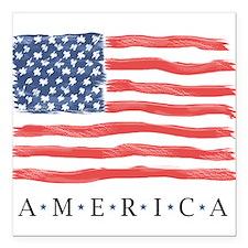 "American Flag Car Magnet 3"" X 3"""
