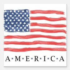 "American Flag Car Magnet 3"" X 3"""