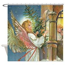Vintage Angel Shower Curtain