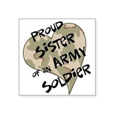 Proud sister Army soldier Oval Sticker