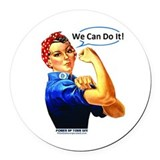 Rosie the riveter Round Car Magnets