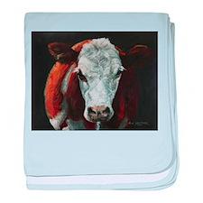 Hereford Cattle baby blanket