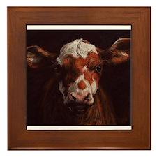 Hereford Calf Framed Tile