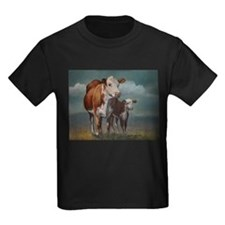 Hereford Cow and Calf in Pasture T