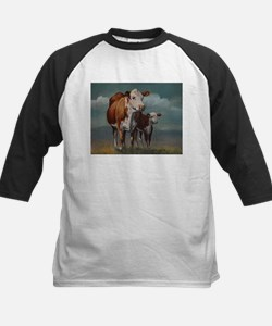 Hereford Cow and Calf in Pasture Tee