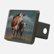 Hereford Cow and Calf in Pasture Hitch Cover