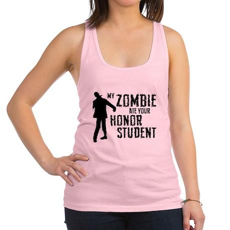 Zombie Ate Honor Student Racerback Tank Top