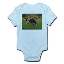Holstein Milk Cow in Pasture Infant Bodysuit