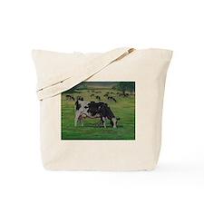 Holstein Milk Cow in Pasture Tote Bag