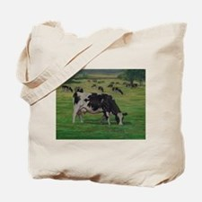 Holstein Milk Cow in Pasture Tote Bag