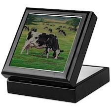 Holstein Milk Cow in Pasture Keepsake Box