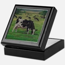 Holstein Milk Cow in Pasture Keepsake Box