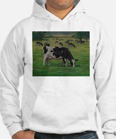 Holstein Milk Cow in Pasture Hoodie