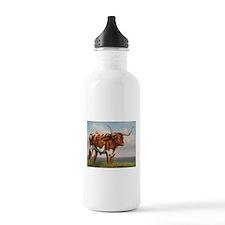 Texas Longhorn Steer Water Bottle