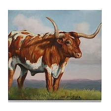 Texas Longhorn Steer Tile Coaster