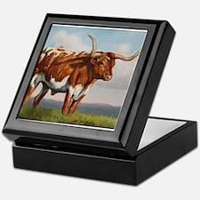 Texas Longhorn Steer Keepsake Box