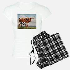 Texas Longhorn Steer Pajamas