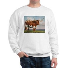 Texas Longhorn Steer Sweatshirt
