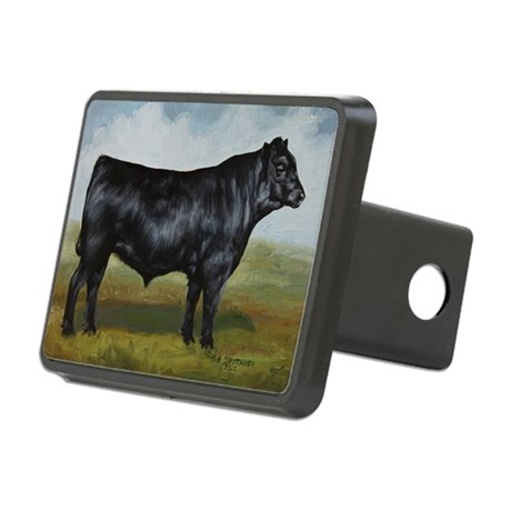 Black Angus Rectangular Hitch Cover