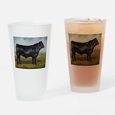 Black Angus Drinking Glass