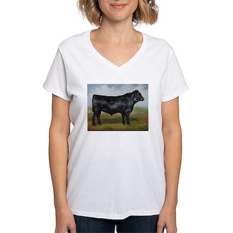 Black Angus Women's V-Neck T-Shirt