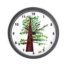 Geometric Tree Wall Clock
