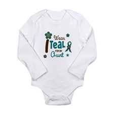 I Wear Teal For My Aunt 12 Body Suit