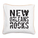 New Orleans Rocks Square Canvas Pillow
