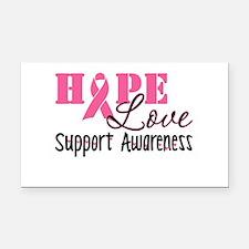 Hope Love Support Awareness Rectangle Car Magnet