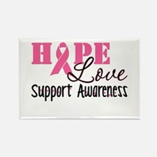 Hope Love Support Awareness Rectangle Magnet (10 p