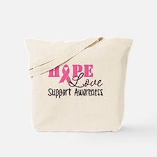Hope Love Support Awareness Tote Bag