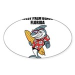 West Palm Beach Sticker (Oval 10 pk)