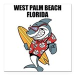 West Palm Beach Square Car Magnet 3