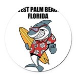 West Palm Beach Round Car Magnet