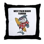 West Palm Beach Throw Pillow