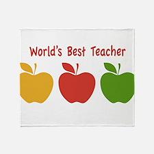 Worlds Best Teacher Throw Blanket