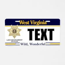 West Virginia Police Officer Custom License Plate