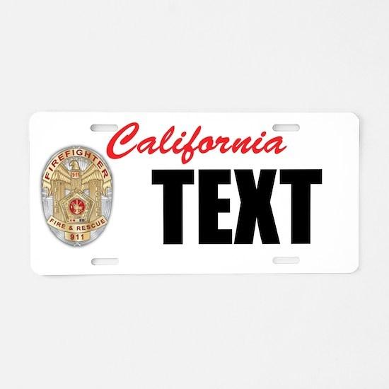 California Firefighter Custom License Plate