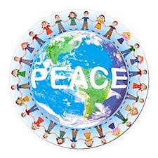 PEACE Round Car Magnet