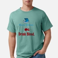 Save Water, Drink Blood Mens Comfort Colors Shirt
